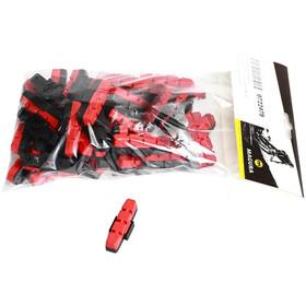 Magura HS11/HS33 Rim Brake Pads for Uncoated Aluminium Rims 25 Sets, negro/rojo